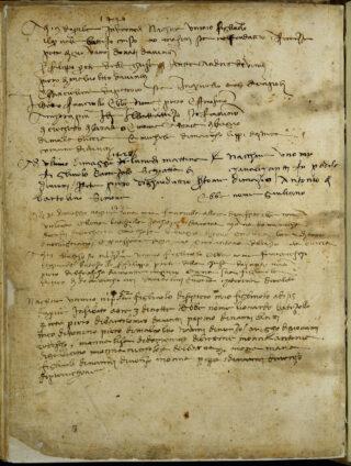 Antonio da Vinci, note on the birth of Leonardo (1452), Florence, Archivio di Stato, Notarile antecosimiano 16912, f. 105v